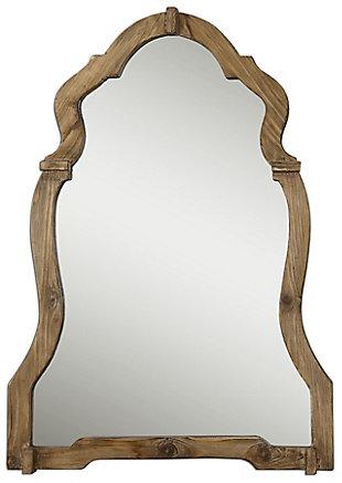 Uttermost Agustin Light Walnut Mirror, , large