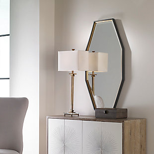 Uttermost Savion Gold Octagon Mirror, , rollover