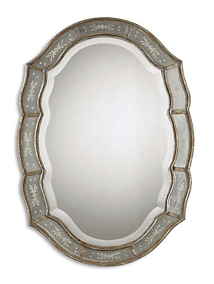 Uttermost Fifi Etched Antique Gold Mirror, , large