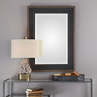 Uttermost Staveley Rustic Black Mirror, , rollover