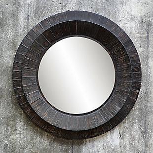 Uttermost Corral Round Wood Mirror, , rollover