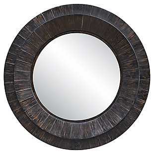 Uttermost Corral Round Wood Mirror, , large