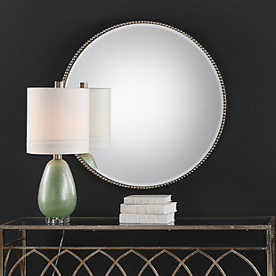 Uttermost Stefania Beaded Round Mirror, , rollover