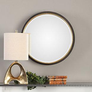 Uttermost Sturdivant Antiqued Gold Round Mirror, , rollover
