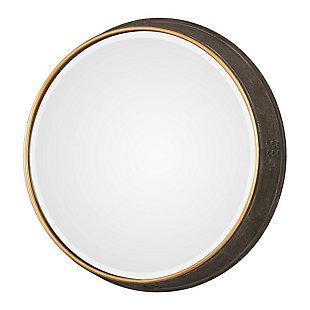Uttermost Sturdivant Antiqued Gold Round Mirror, , large