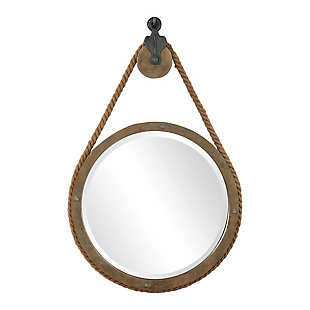 Uttermost Melton Round Pulley Mirror, , large