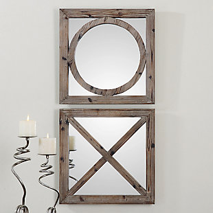 Uttermost Baci E Abbracci, Wooden Mirrors Set of 2, , rollover