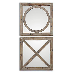 Uttermost Baci E Abbracci, Wooden Mirrors Set of 2, , large