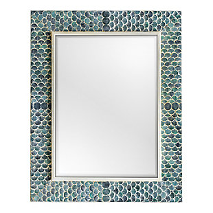 Uttermost Makaria Coastal Blue Mirror, , large