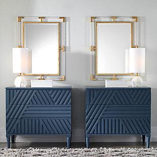Uttermost Balkan Modern Gold Wall Mirror, , rollover