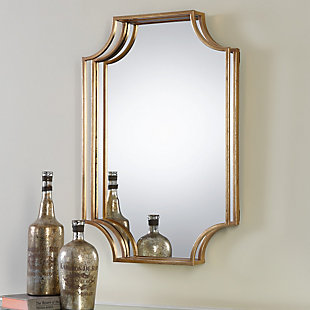Uttermost Lindee Gold Wall Mirror, , rollover