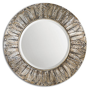 Uttermost Foliage Round Silver Leaf Mirror, , large