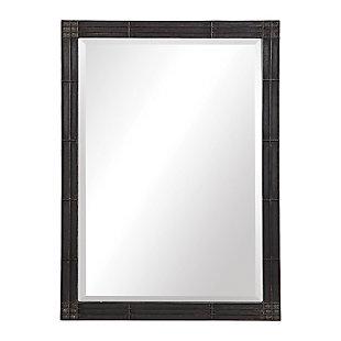 Uttermost Gower Aged Black Vanity Mirror, , large
