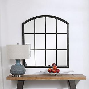 Uttermost Lyda Aged Black Arch Mirror, , rollover