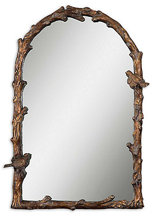 Uttermost Paza Antique Gold Arch Mirror, , large