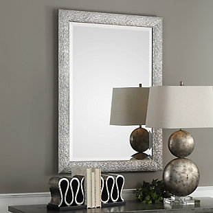 Uttermost Mossley Metallic Silver Mirror, , rollover