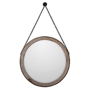 Uttermost Loughlin Round Wood Mirror, , large