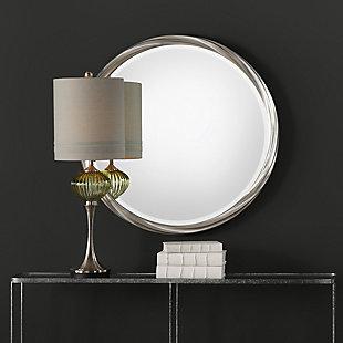 Uttermost Orion Silver Round Mirror, , rollover