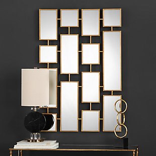Uttermost Kennon Forged Gold Rectangles Mirror, , rollover