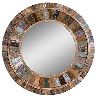 Uttermost Jeremiah Round Wood Mirror, , large