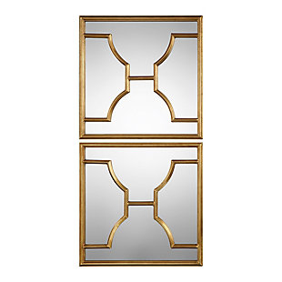 Uttermost Misa Gold Square Mirrors Set of 2, , large