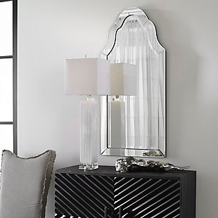 Uttermost Hovan Frameless Arched Mirror, , rollover
