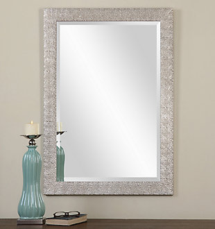 Uttermost Porcius Antiqued Silver Mirror, , rollover