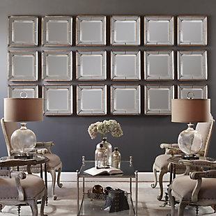 Uttermost Davion Squares Silver Mirror Set of 2, , rollover