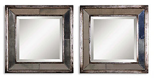 Uttermost Davion Squares Silver Mirror Set of 2, , large