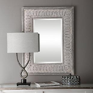 Uttermost Argenton Aged Gray Rectangle Mirror, , rollover