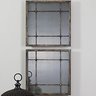 Uttermost Saragano Square Mirrors Set of 2, , rollover