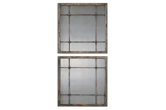 Uttermost Saragano Square Mirrors Set of 2, , large