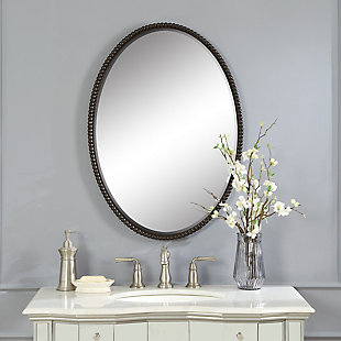 Uttermost Sherise Bronze Oval Mirror, , rollover