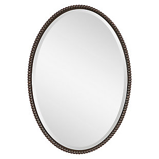 Uttermost Sherise Bronze Oval Mirror, , large