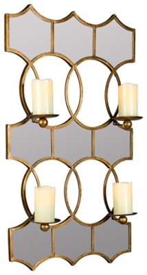 Ashley Accents Lia Mirrored Candle Holder Home