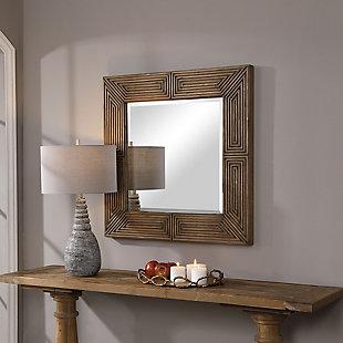 Uttermost Traveler Geometric Square Mirror, , rollover