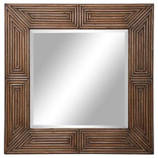 Uttermost Traveler Geometric Square Mirror, , large