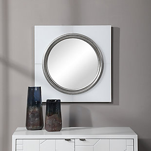 Uttermost Gouveia White Square Mirror, , rollover