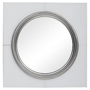 Uttermost Gouveia White Square Mirror, , large