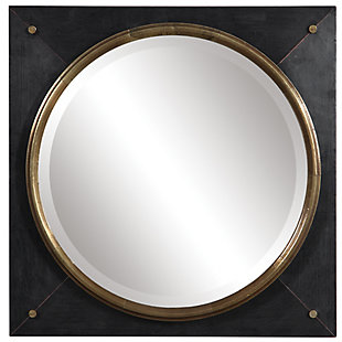 Uttermost Tobiah Modern Square Mirror, , large