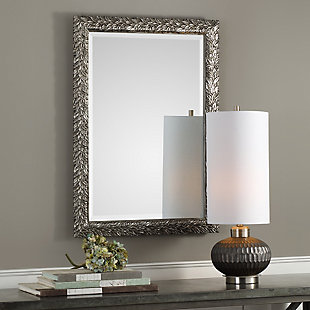 Uttermost Evelina Silver Leaves Mirror, , rollover