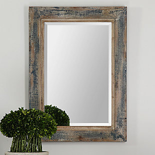 Uttermost Bozeman Distressed Blue Mirror, , rollover
