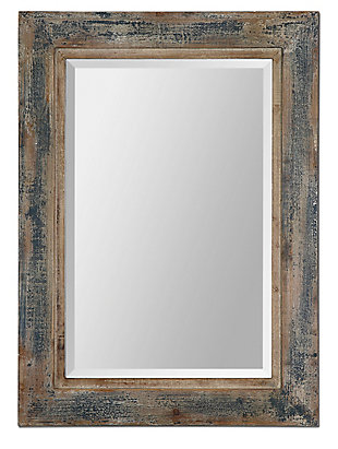 Uttermost Bozeman Distressed Blue Mirror, , large