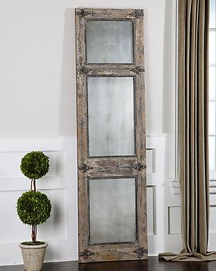 Uttermost Saragano Distressed Leaner Mirror, , rollover