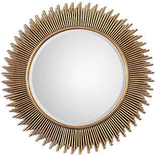 Uttermost Marlo Round Gold Mirror, , large