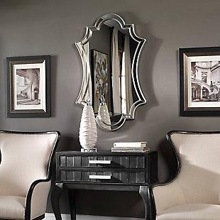 Uttermost Elara Antiqued Silver Wall Mirror, , rollover