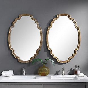 Uttermost Ariane Gold Oval Mirror, , rollover