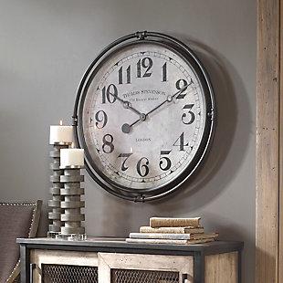 Uttermost Nakul Industrial Wall Clock, , rollover