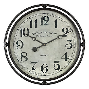 Uttermost Nakul Industrial Wall Clock, , large