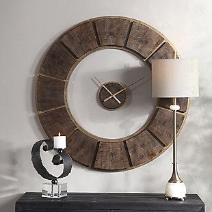 Uttermost Kerensa Wooden Wall Clock, , rollover